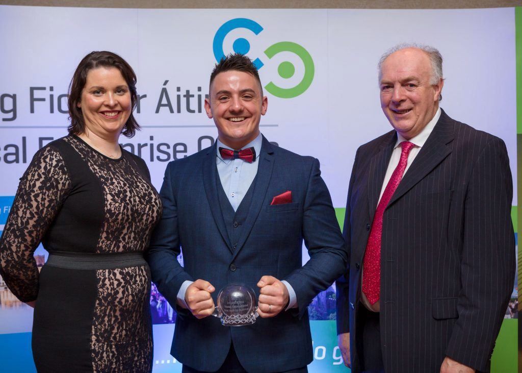 Kevin Walsh, MD for Aphex being awarded Best Established Business award 2016 Waterford Local Enterprise Office